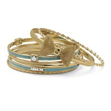 Enamel 7 Bangle Bracelet