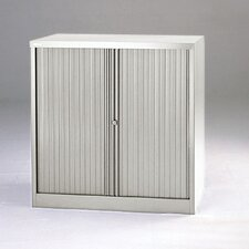 "40"" Tambour Door Cabinet with Two Binder Storage Shelves"