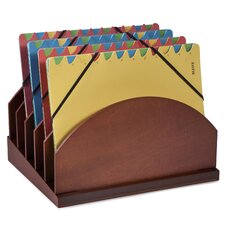 Stack and Style Wood Step-Up Project Management File Caddy