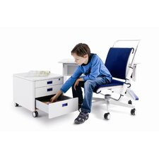 <strong>Empire Office Solutions</strong> Champion Kids Three Drawer Rolling Cube Container