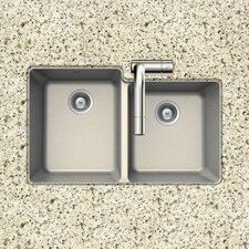 "33"" x 20.5"" Alive Series Undermount 60/40 Double Bowl Kitchen Sink"