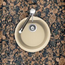"17.13"" x 17.13"" Euro Series Dual Mount Round Bar / Kitchen Sink"