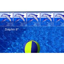 "Do-It-Yourself Classic 6"" Playful Dolphin Pattern Borderlines Pool Makeover Kit"