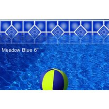 "Do-It-Yourself Classic 6"" Meadow Blue Pattern Borderlines Pool Makeover Kit"