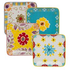 "Flower Power 6"" Plate (Set of 4)"