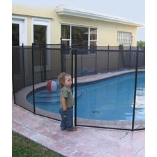 <strong>Water Warden</strong> Pool Safety Self Closing Gate Black DIY Aluminum Posts with Meshylene Mesh
