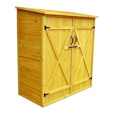 """5' x 2'6"""" Wood Lean-To Storage Shed"""
