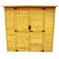 6ft. W x 3ft. D Wood Lean-To Storage Shed