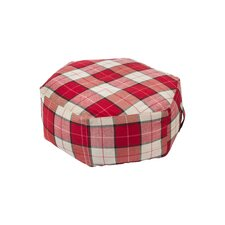 Hex Ottoman in Plaid