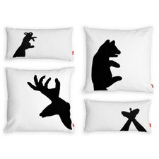 <strong>Gus* Modern</strong> Shadow Puppets Graphic Down Pillows (Set of 4)