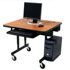 Classic Flip Top Workstation Computer Table