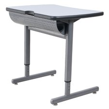 2 Student Computer Lab Table with Wire Management Tray
