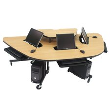 "Mobile Multi-User Work Station 94"" W x 45"" D Computer Table"