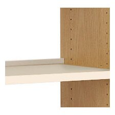 Flat Shelf with Deflecta-Stop