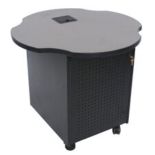 "41"" Oval Mobile Technology Storage Cabinet"