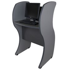 Kiosk Wave Panels Computer Table