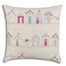 Beach Huts Filled Cushion