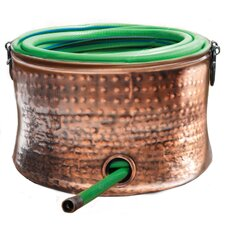 Steel Copper Plated Hose Holder/Storage Pot