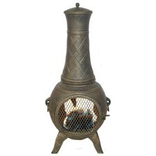 <strong>Deeco</strong> Western Basket Weave Junior Chiminea