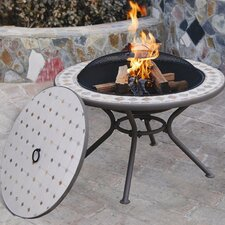 <strong>Deeco</strong> Milano Marble Table with Firepit