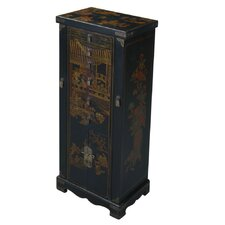 Handmade Oriental Jewelry Armoire with Mirror
