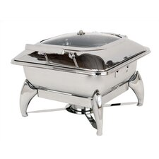 New Age Large Square Chafing Dish with Glass Lid