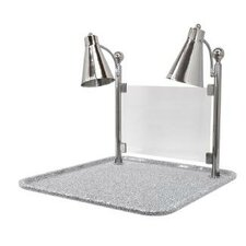 <strong>Buffet Enhancements</strong> Flex Dual Stainless Steel Lamp Square Carving Station with Sneeze Guard