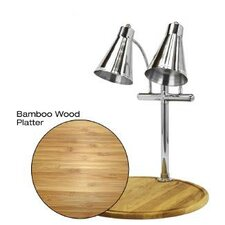 Flex Dual Stainless Steel Lamp Bamboo Round Carving Station