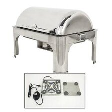 Classic Empire Style Rectangle Chafing Dish with Magnetic Electric Heater
