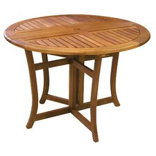 <strong>Outdoor Interiors</strong> Eucalyptus Round Folding Table
