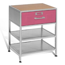 Locker 1 Drawer Nightstand