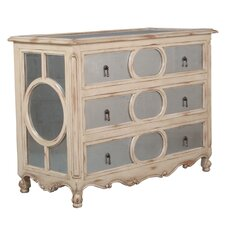Eglomise 3 Drawer Chest