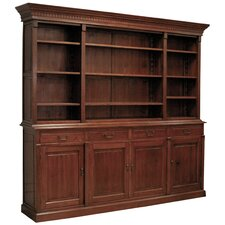 "Large Country Manor Open 94"" Bookcase Hutch"