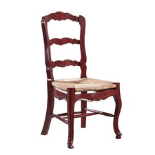 French Country Ladderback Side Chair