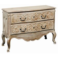 2 Drawer Marie Claire Carved Commode