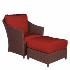 <strong>Acacia Home and Garden</strong> George Town Lounge Chair and Ottoman with Cushion