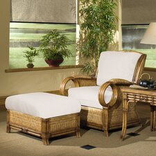 Royal Pine Lounge Chair and Ottoman
