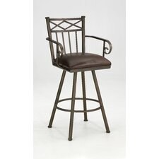 "Arthur 26"" Swivel Bar Stool with Cushion"