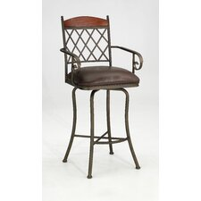 "<strong>Iron Mountain</strong> Megan 30"" Swivel Bar Stool with Cushion"