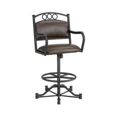 "Windemere 26"" Swivel Bar Stool with Cushion"