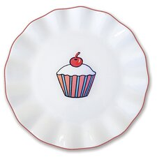 "Everyday Cupcake 7"" Stripes Plate (Set of 4)"