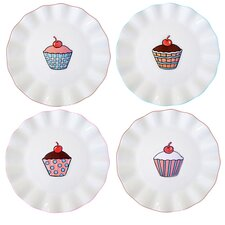 "Everday Cupcake 7"" Assorted Plates (Set of 4)"