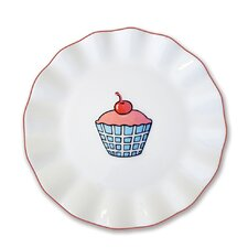 Everyday Cupcake Plaid Plate
