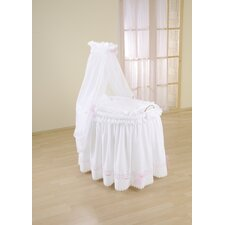 Romantic Full Length Drape Crib in Pink