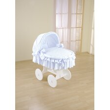 Sweety Wicker Hood Crib in Blue