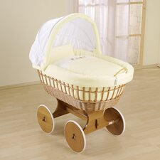 Baby Wicker Hood Crib