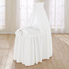 Noblesse Full Length Drape Crib in White