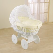 Flora Wicker Hood Crib in Beige