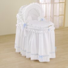 Romantic Full Length Hood Crib in Blue