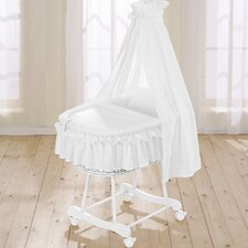 Noblesse Wicker Drape Crib in White